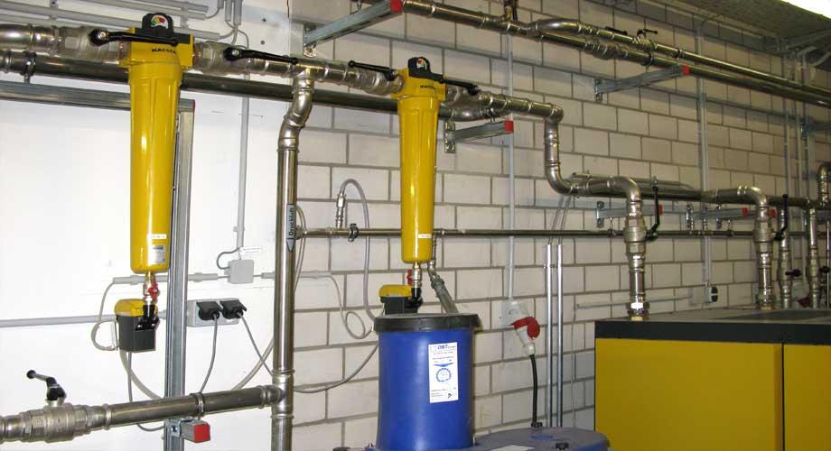 Eine von der DBT installierte Druckluftaufbereitungsanlage